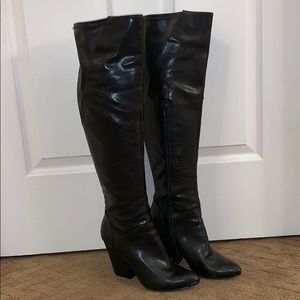 Nine West Over the Knee Leather Boots
